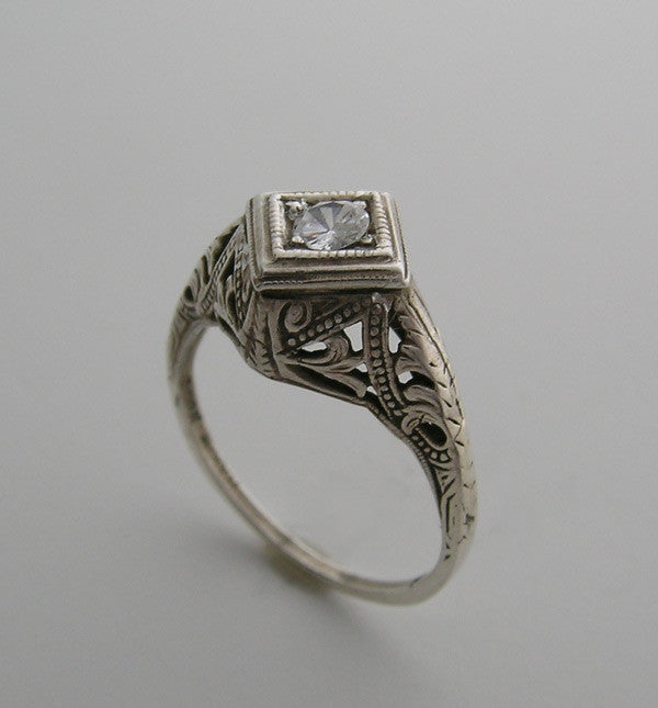 14K Filigree Ring Setting