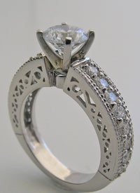 SPECIAL ATTRACTIVE  DIAMOND SET ENGAGEMENT RING SETTING