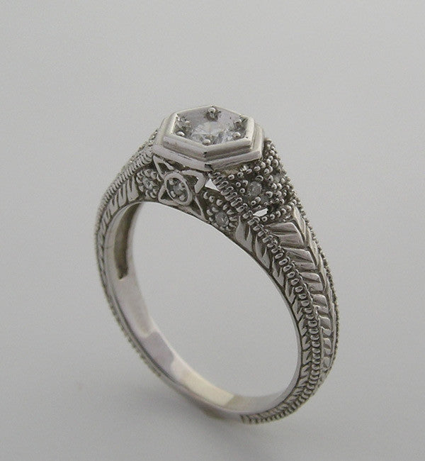 Gold Filigree Ring Setting 4.1 MM