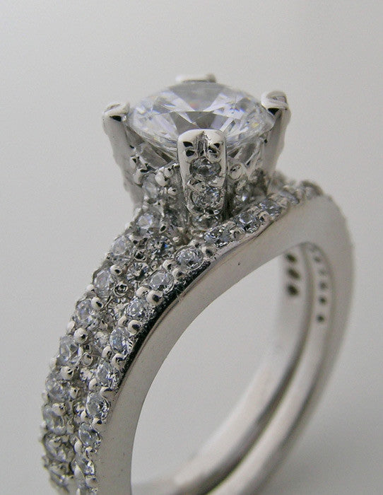 Platinum Diamond Bridal Engagement ring setting set