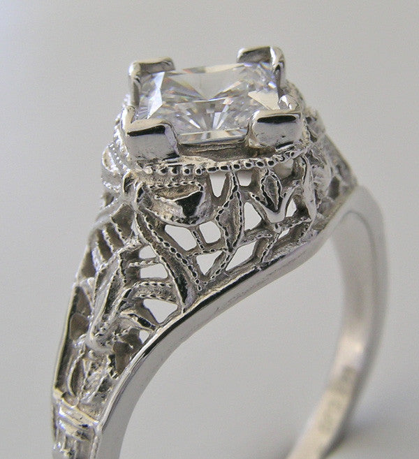 Platinum Old Fashioned Ring Setting
