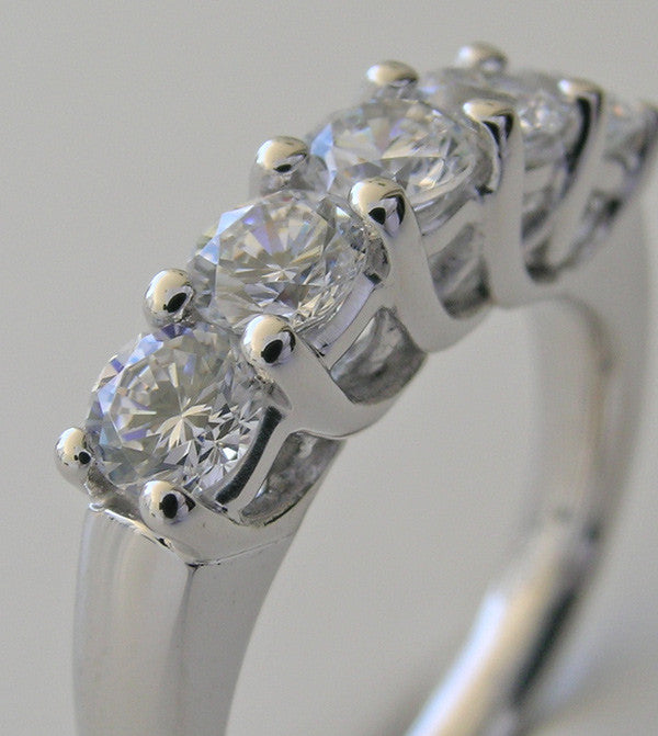 Platinum Five Stone Diamond Wedding Ring
