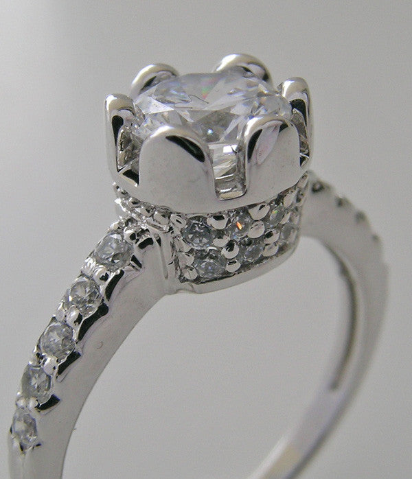 UNIQUE DIAMOND TULIP DESIGN SOLITARE ENGAGEMENT RING SETTING