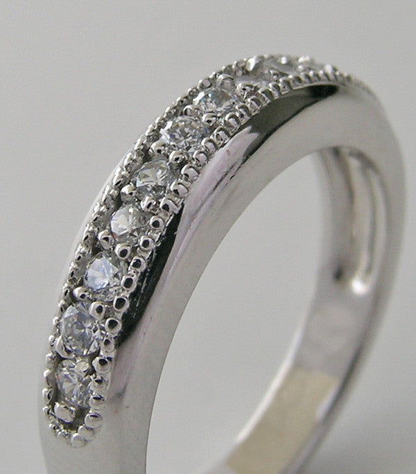 DIAMOND WEDDING BAND RING WILL MIL GRAIN DESIGN