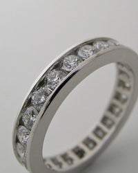 ETERNITY ANNIVERSARY DIAMOND WEDDING BAND CHANNEL SET 1.20 CTS