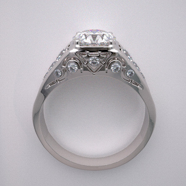 VERSATILE GOLD CONTEMPORARY RING SETTING DIAMOND ACCENTS