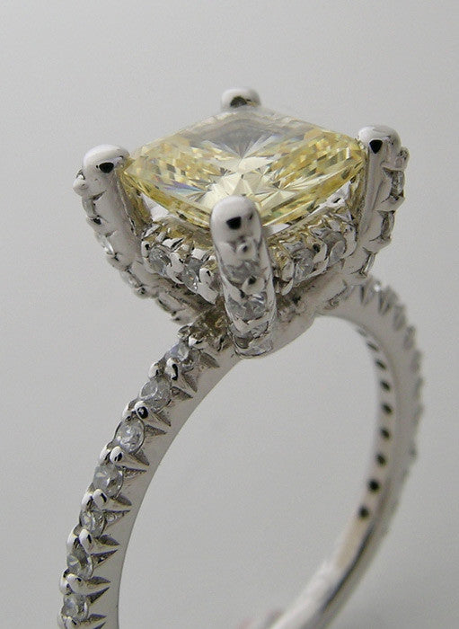 14K Gold Ring Setting With Diamond Details