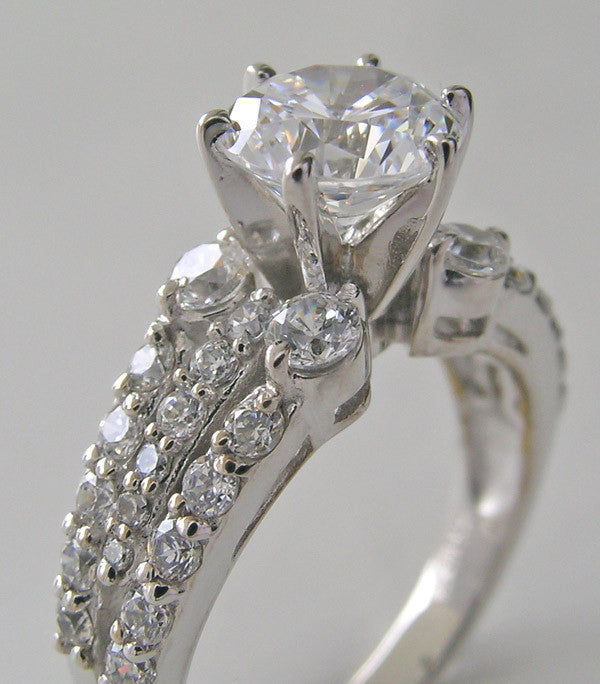 ENGAGEMENT RING SETTING ACCENT DIAMONDS FOR ALL SHAPE AND SIZE CENTER STONES