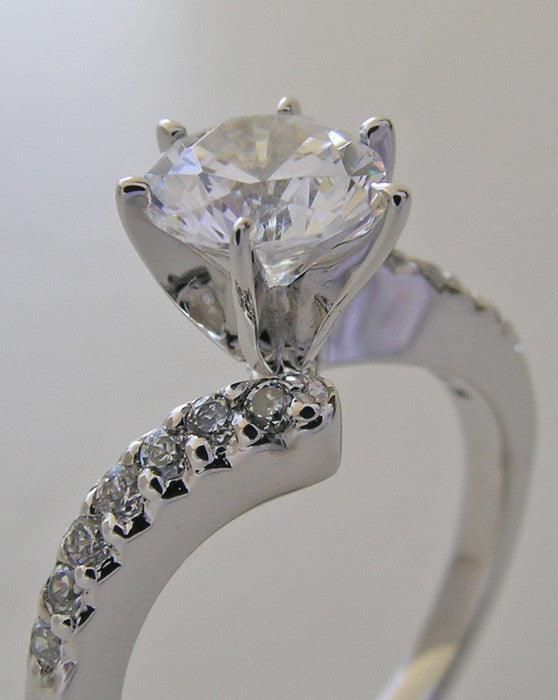 Engagement Diamond Accent Ring Setting