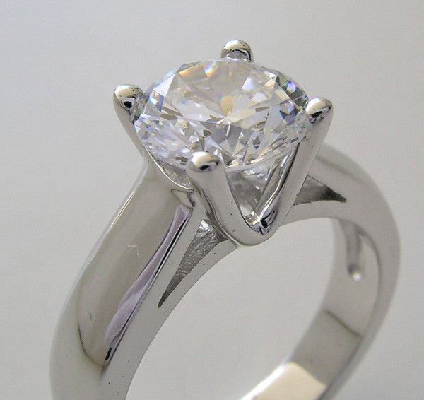14K Ring Setting for Round Stone
