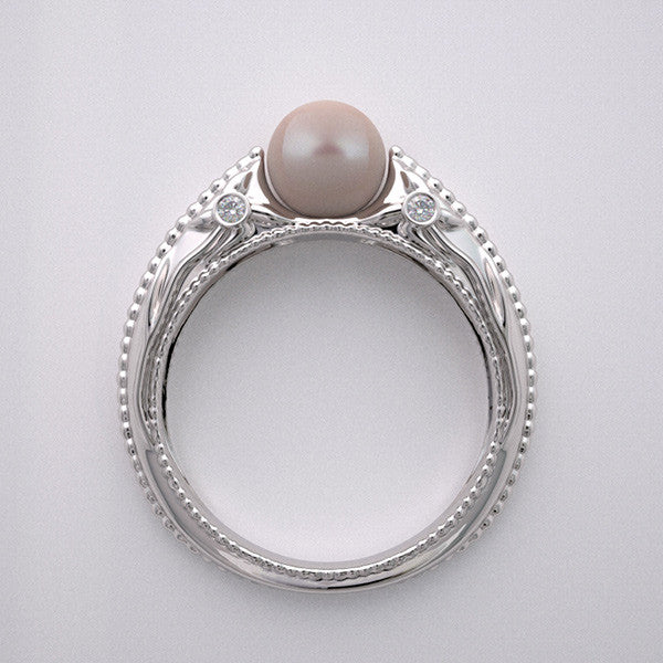 Gold Right Hand Pearl Ring