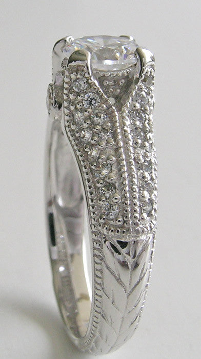 UNUSUAL PAVE DIAMOND ENGAGEMENT RING SETTING