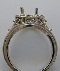 14K ANTIQUE ART DECO  STYLE ENGAGEMENT RING SETTING 7.5 MM