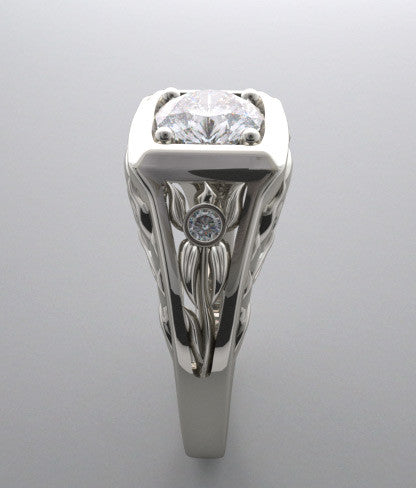 DIAMOND ENGAGEMENT RING SETTING LOTUS COLLECTION