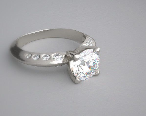 SLEEK ENGAGEMENT RING SETTING UNUSUAL SOLITAIRE DESIGN