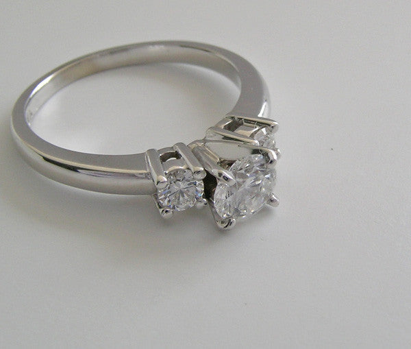 Three Stone Diamond 14K Ring