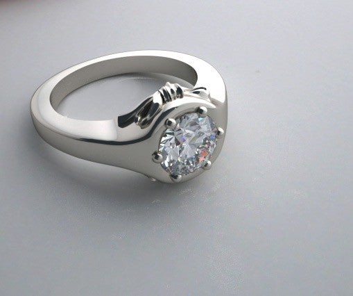 FEMININE BOW DESIGN ENGAGEMENT RING SETTING