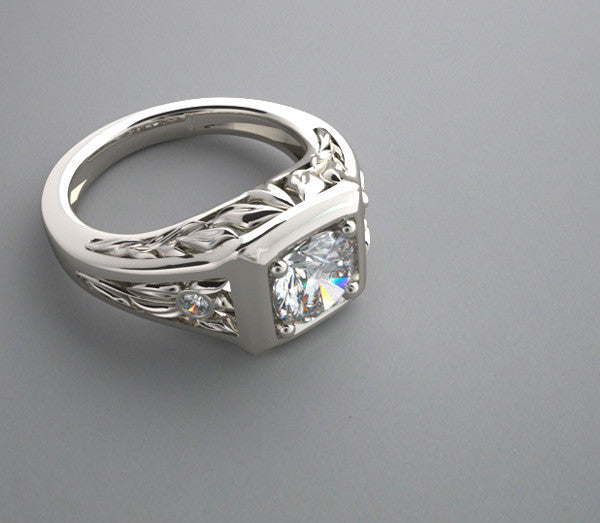 14K White Gold Ring Setting