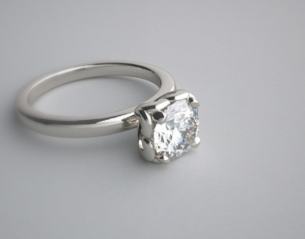 FEMININE ENGAGEMENT RING SETTING OR RE-MOUNT RING