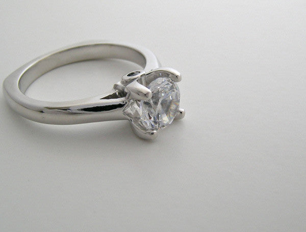 PLAIN SOLITAIRE  SURPRISE DIAMOND ENGAGEMENT RING SETTING MOUNTING
