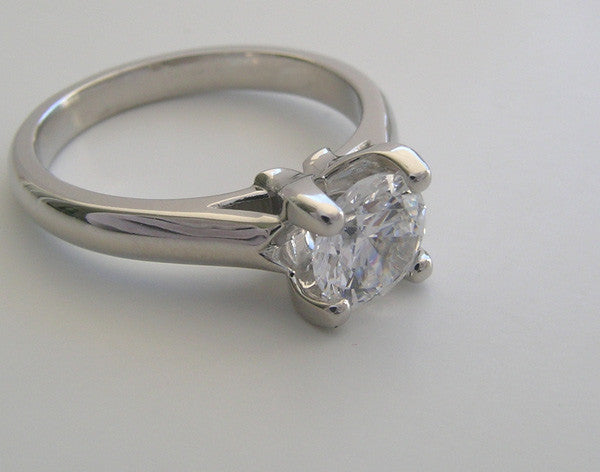 CLASSIC FOUR PRONG ENGAGEMENT RING SETTING OR REMOUNT RING
