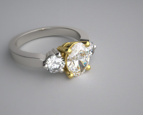 DESIGNER THREE STONE DIAMOND RING SETTING