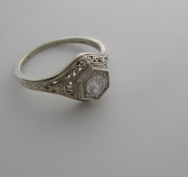 Gold Filigree Ring Mounting
