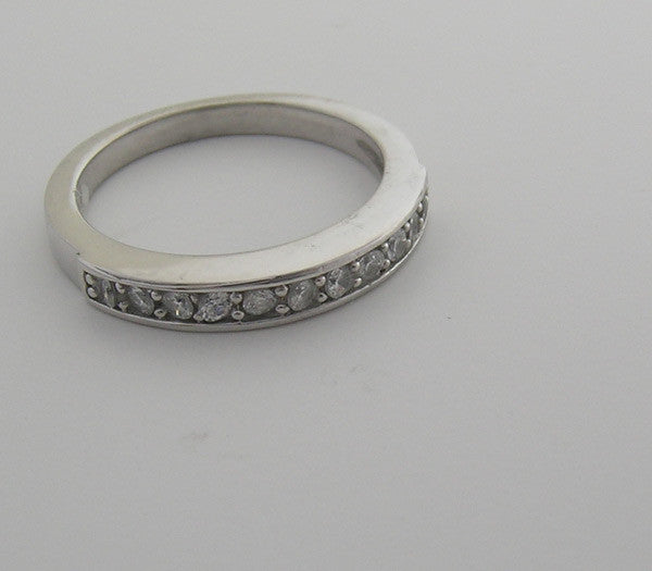 ELEGANT CONTEMPORARY PAVE BRIDAL DIAMOND WEDDING  BAND RING