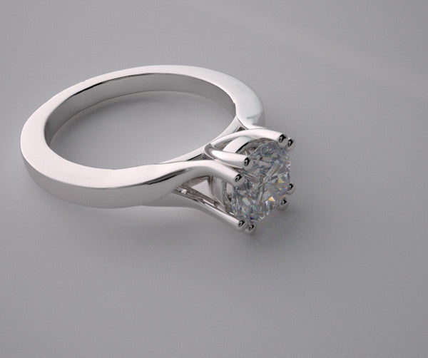 ELEGANT UNUSUAL PRONG SET SOLITAIRE ENGAGEMENT RING SETTING