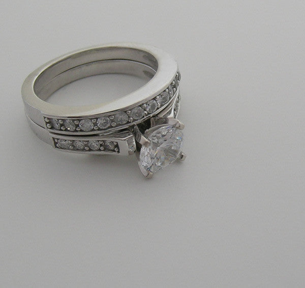 DIFFERENT  DIAMOND ENGAGEMENT BRIDAL RING SETTING SET