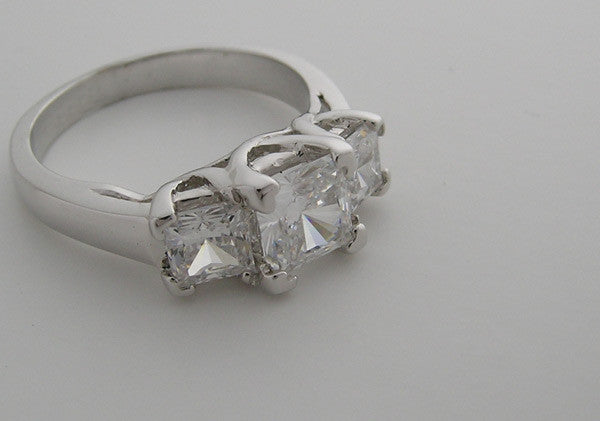 Platinum Three Stone Ring Settings
