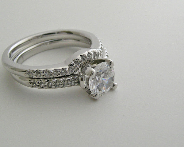 Engagement Ring Setting and Matching Wedding Band