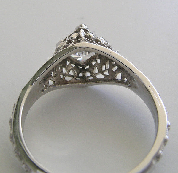 Platinum Filigree Ring Setting