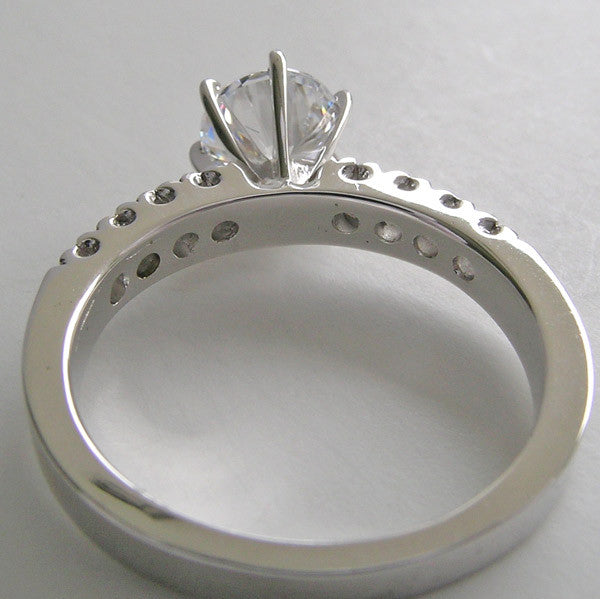 14K Elegant  Engagement Ring Setting for 6.5 mm Diamond