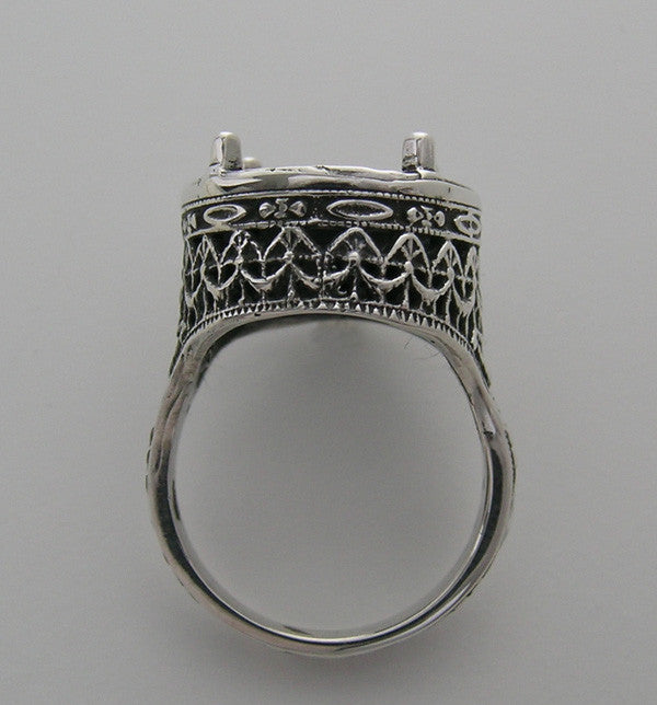 White Gold Large Deco Ring Setting