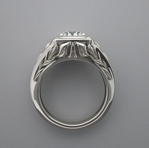 14K Lotus Design Ring Setting 6.5 MM