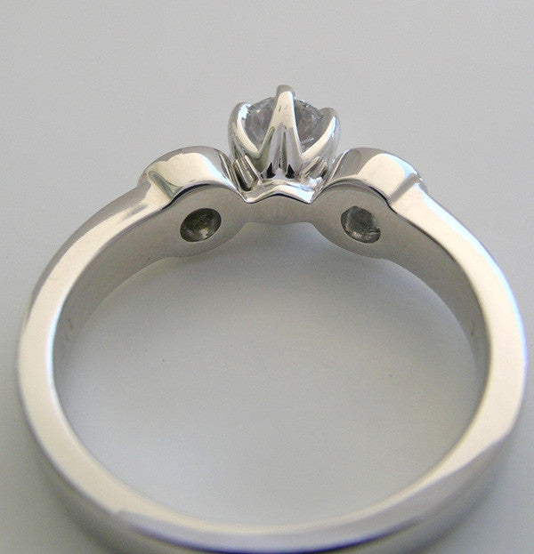 Modern three Stone Ring Setting