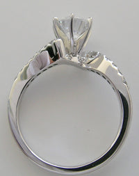 ENGAGEMENT RING SETTING ABSTRACT DESIGNED MODERN DESIGN WITH DIAMOND ACCENTS -