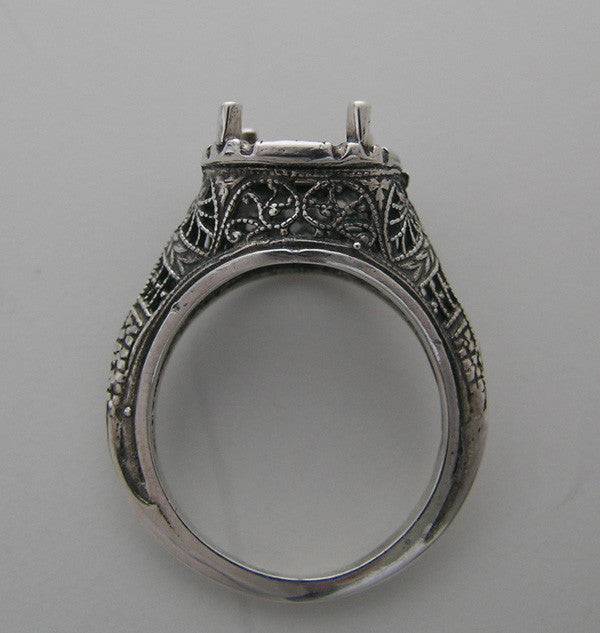 Filigree Ring Settings For Round Stones