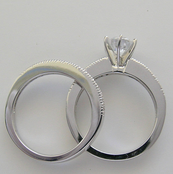 VERSATILE DIAMOND WEDDING RING SET