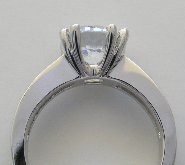 LARGE SOLITAIRE 8 PRONG HEAVY WEIGHT ENGAGEMENT RING SETTING