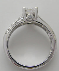 UNIQUE FEMININE ROUND DIAMOND ENGAGEMENT RING SETTING