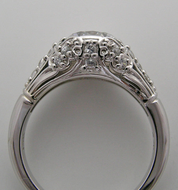 BEAUTIFUL ART DECO ENGAGEMENT RING SETTING OR RE-MOUNT WITH DIAMOND ACCENTS
