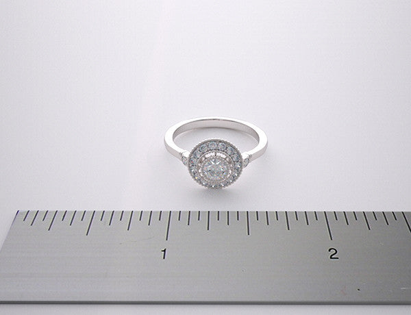 Right Hand Ring setting with Diamond Accents
