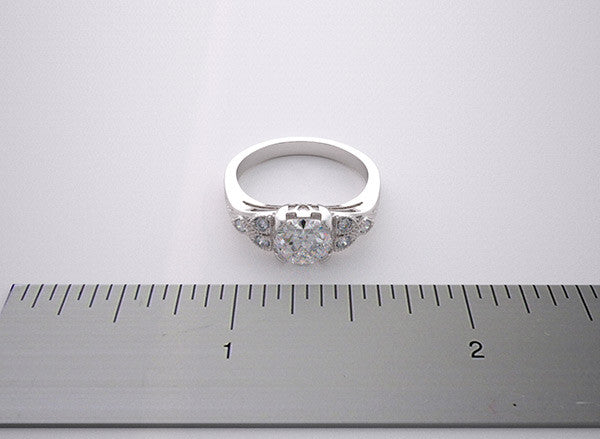 14K Diamond and Milgrain Accent Engagement Ring setting