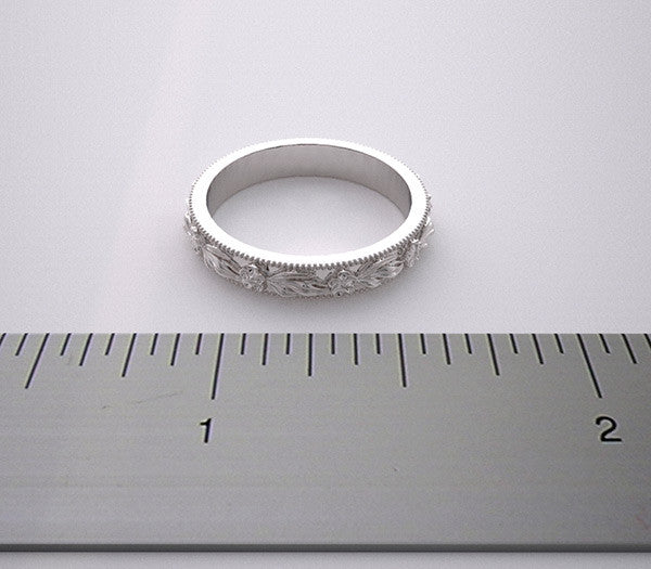 Matching Engagement ring Setting Wedding Band Set