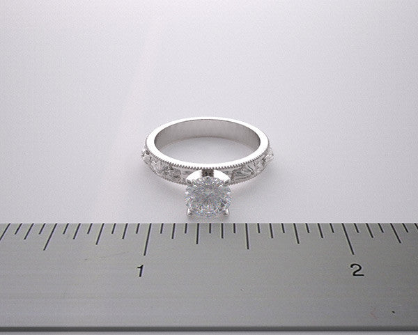 FLOWER BLOSSOM ENGAGEMENT RING SETTING MOUNTINGS