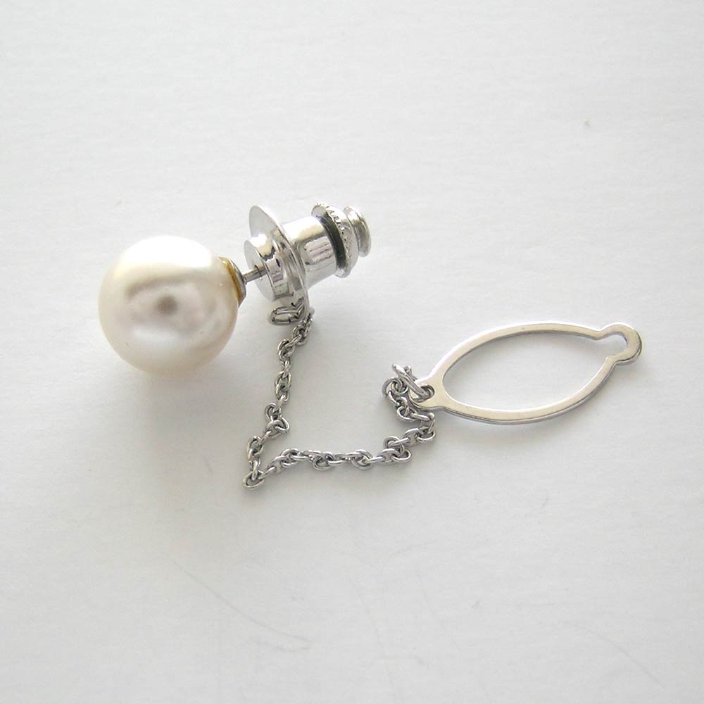Large Cultured Pearl Stick Pin