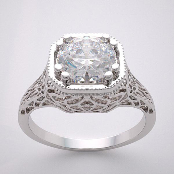 Antique Style Lacey Ring Setting