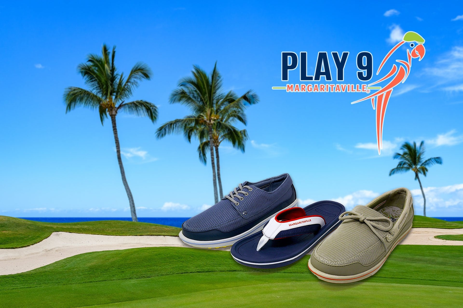 Margaritaville sandals and golf shoes